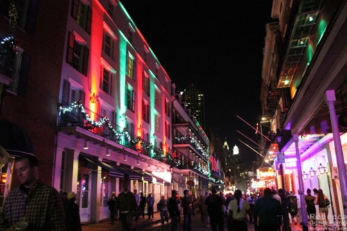 Christmas lights on Bourbon St.