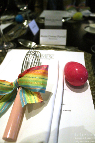 Whisk with the place settings.