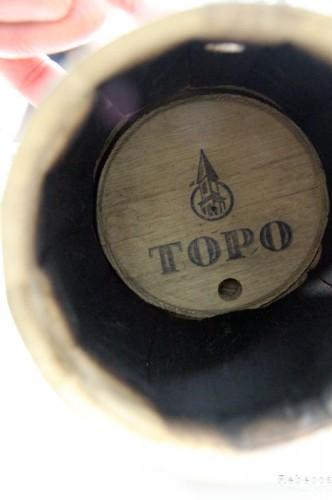 Inside the kit's charred barrel.